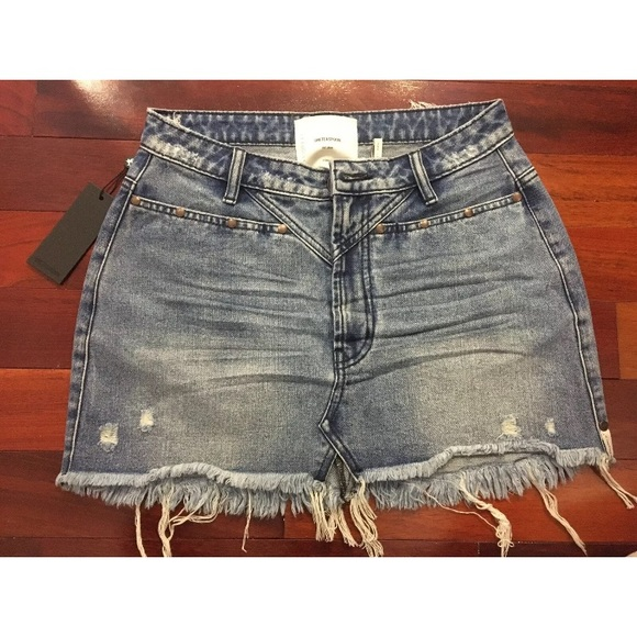 ONE TEASPOON New Cult Trucker Denim SKIRT Size 26